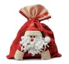 Worek świąteczny z Mikołajem