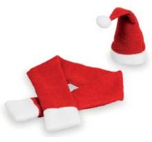 Zestaw świąteczny, czapka i szalik na butelkę.